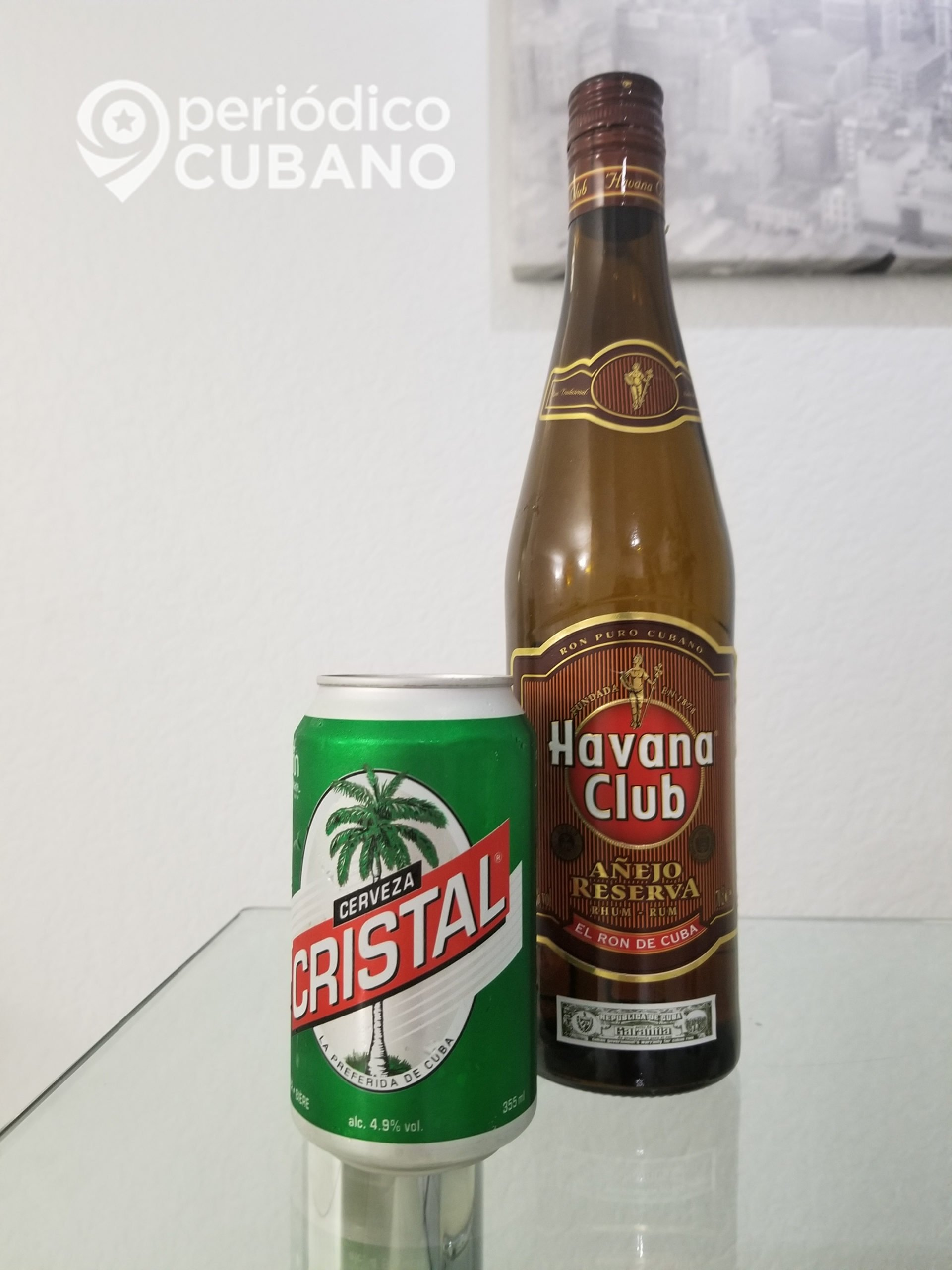 botella de ron y lata de cerveza cristal cubana (12)