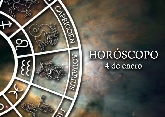 Horóscopo del 4 de enero