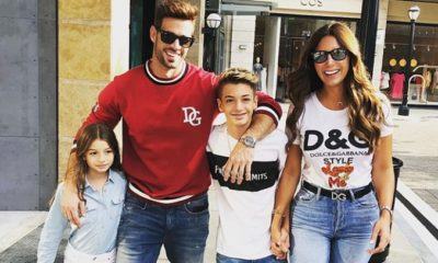 William Levy junto a su familia