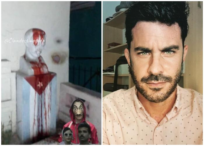 Roberto San Martín apoya la causa del grupo de protesta cubano Clandestinos