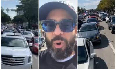 """Otaola comparte en vivo la caravana """"Por Cuba Libre"""""""
