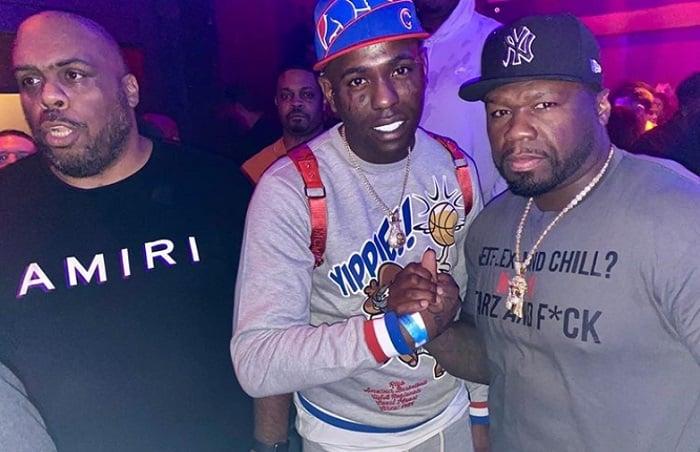 Chocolate MC junto al rapero estadounidense 50 Cent