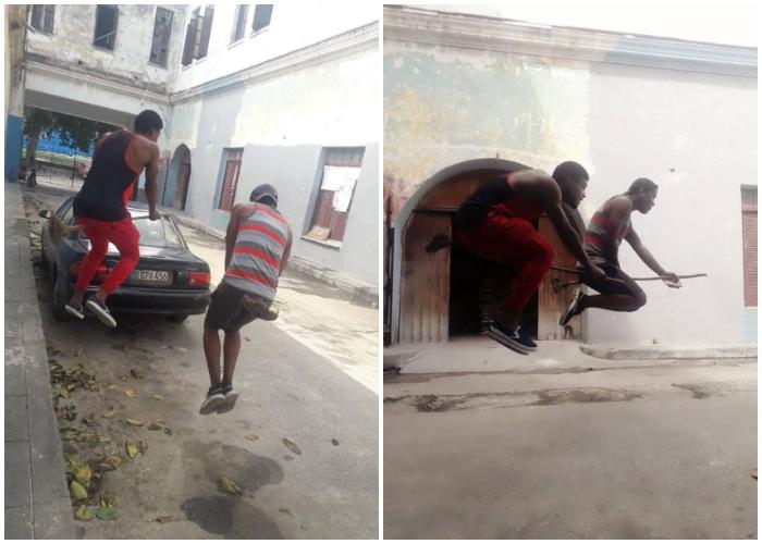 Cubanos con escobas voladoras se hacen virales en las redes sociales