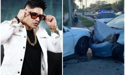 Baby Lores es víctima de un accidente en su vehículo en Miami