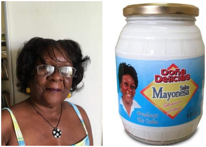 Cubana que fue la imagen promocional de la mayonesa cubana Doña Delicias