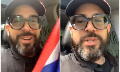 """El presentador cubano Alex Otaola se dirige a la Caravana """"Por Cuba Libre"""""""