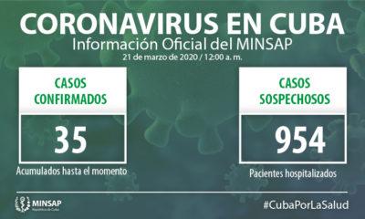 Coronavirus en Cuba Récord de casos en un día, ya son 35 (2)