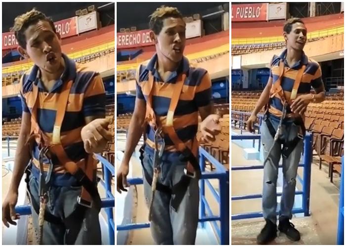 Joven cubano imita a Pánfilo y Limay Blanco a la perfección