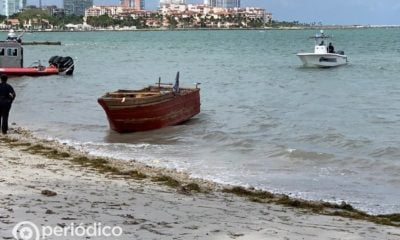 Con ayuda de un dron interceptaron a once balseros cubanos