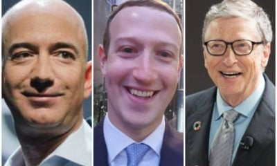 Jeff Bezos, Mark Zuckerberg y Bill Gates