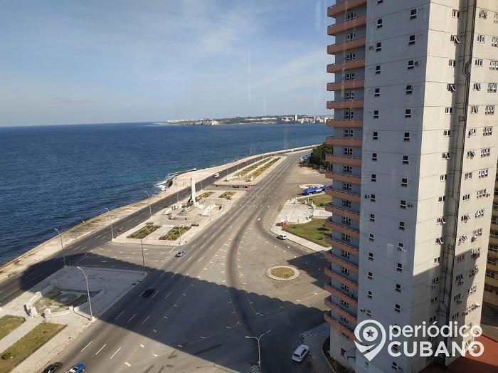 Malecón de La Habana sin personas