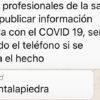 No publicar informacion relacionada con el COVID-19