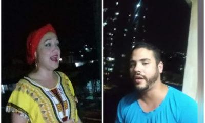 Cubanos alegran a sus vecinos en La Habana en medio de la cuarentena