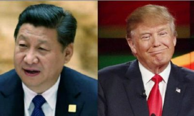 trump y el presidente de china