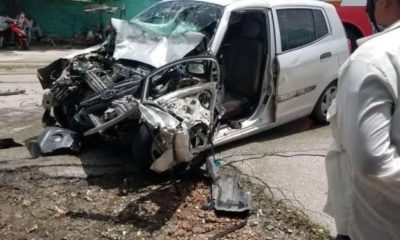 Accidente entre una Yutong y un automóvil en Holguín deja un fallecido (Captura pantalla: Facebook-Pedro Dominguez)