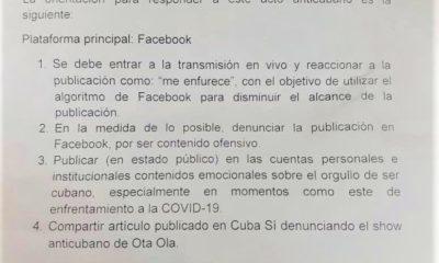 Acciones en redes sociales Otaola