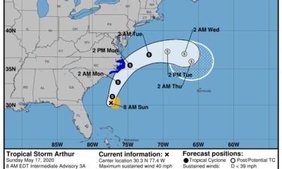 Llega Arthur, la primera tormenta tropical de la temporada de huracanes