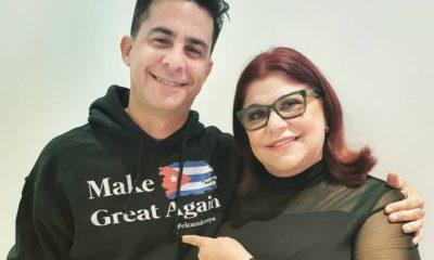 Roberto San Martín y su madre Susana Pérez