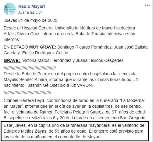 Tercer muerto en Holguín por el brote de rabia