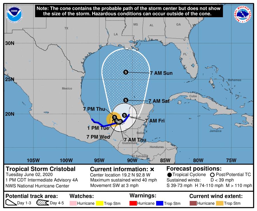 Amanda se convierte en Cristóbal, ¿cómo un ciclón tropical cambia de nombre?