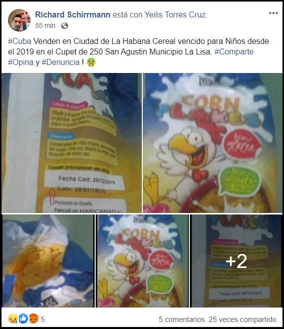 Denuncian al CUPET de La Habana por vender cereal vencido desde el año pasado