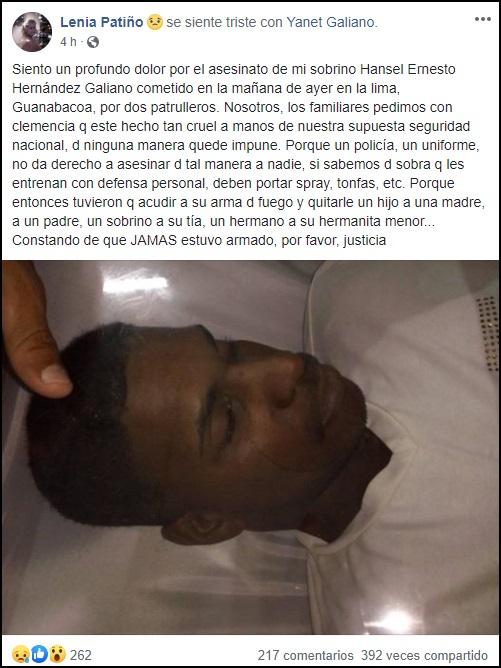 Denuncian presunto asesinato de un joven a manos de la policía cubana en Guanabacoa