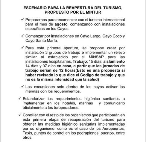 Información exclusiva Estos son los planes del gobierno cubano para reabrir el turismo2
