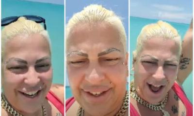 La Diosa de Cuba se va para la playa con sus hijos
