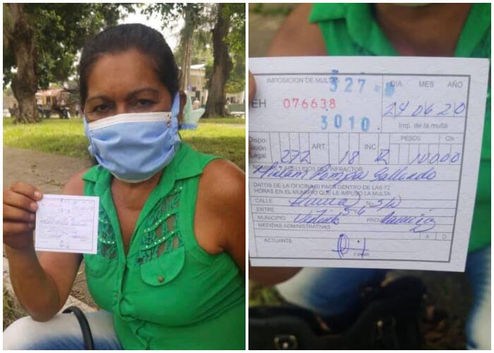 Madre cubana es multada por rascarse la nariz con el nasobuco puesto