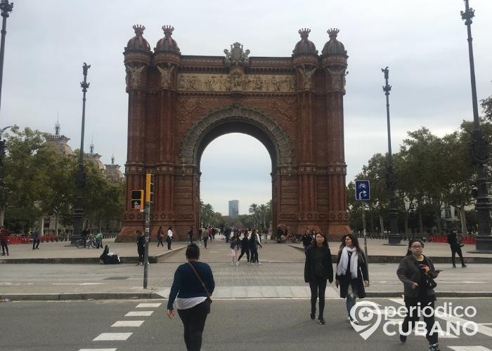 Arco del Triunfo en Barcelona, España