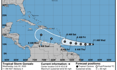 Aviso sobre la tormenta tropical Gonzalo, un peligro para el Caribe