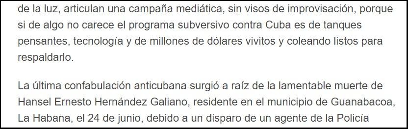 Prensa oficialista considera que pedir transparencia en el caso de Hansel Hernández es anticubano