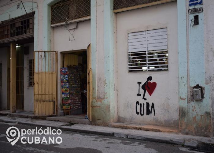 """Cartel de """"I Love Cuba"""" en La Habana"""
