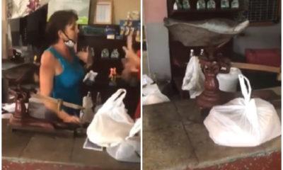 Cubana denuncia robo en bodega de Santa Clara, le cobraron libras que no le dieron