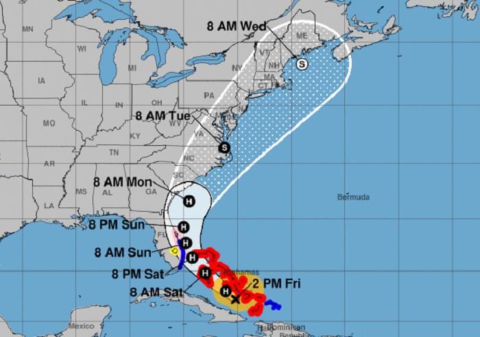 Declaran Estado de Emergencia para la costa este de Florida ante al cercanía del huracán Isaías