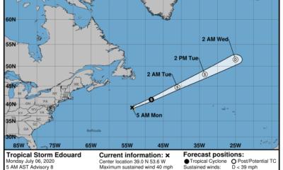 Edouard, la quinta tormenta tropical de la temporada, se aleja de EEUU