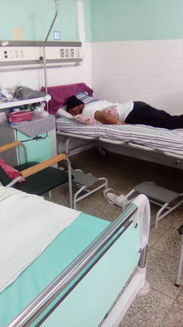 El Dany, integrante de Yomil y El Dany, ingresado en el hospital Calixto García