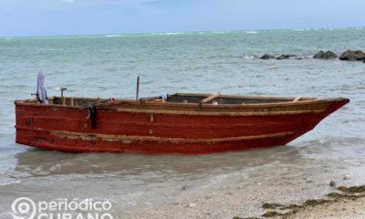 Embarcación de balseros cubanos