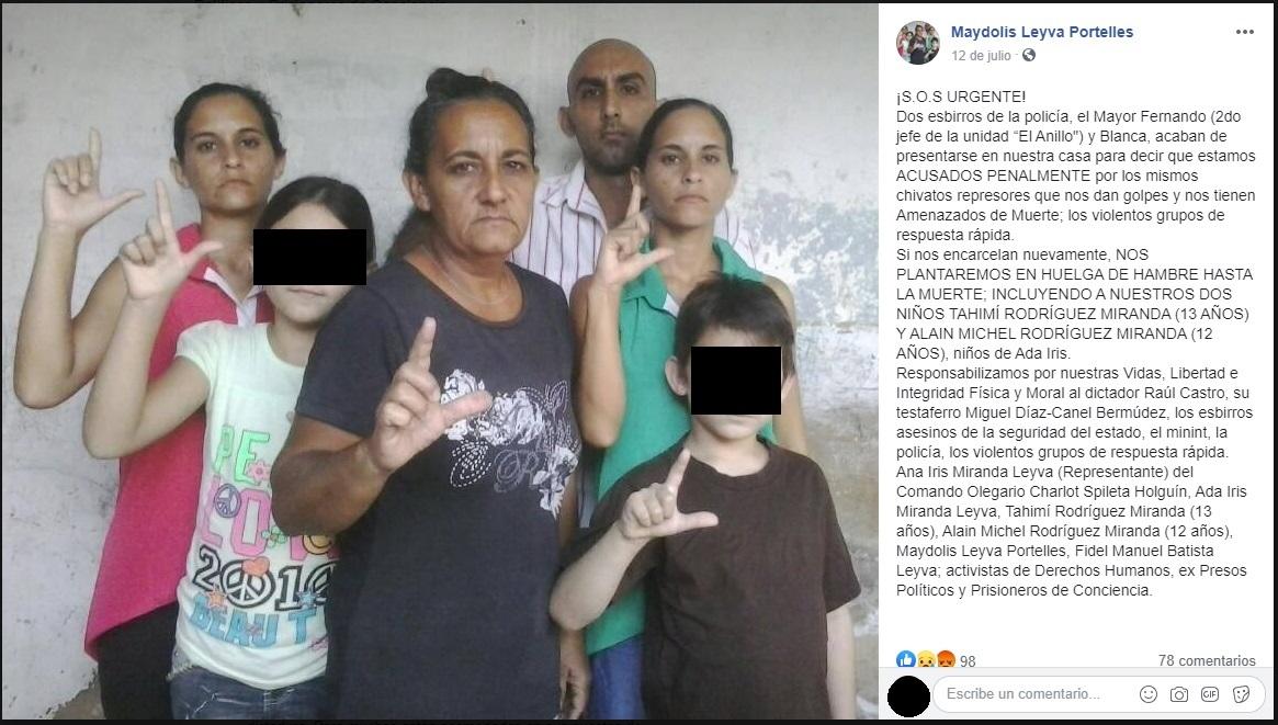Familia opositora atacada en Holguín es acusada penalmente por sus agresores