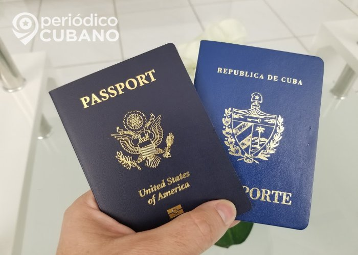 Pasaporte cubano y pasaporte de EEUU