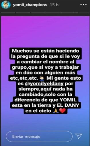 Post de Yomil Hidalgo en Instagram