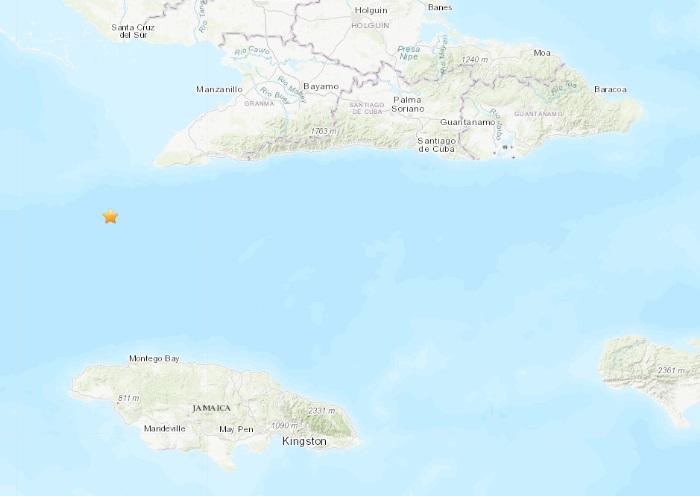 Reportan sismo de 5.1 entre las costas de Cuba y Jamaica