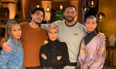 Will Smith junto a Jada y su familia