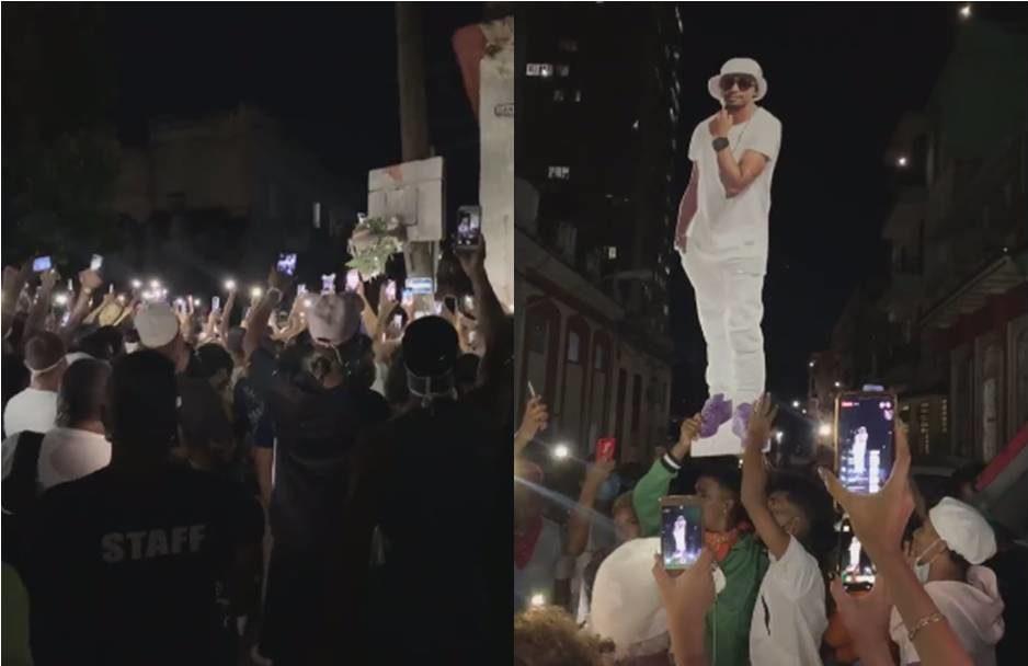 Con aplausos y música una multitud de cubanos despidió a El Dany en La Habana (Captura de video: Marcos Gómez Sánchez - Facebook)