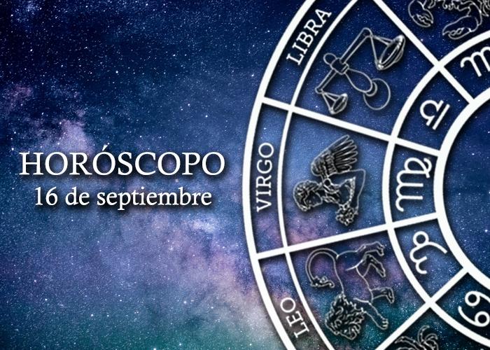 Horóscopo del 16 de septiembre