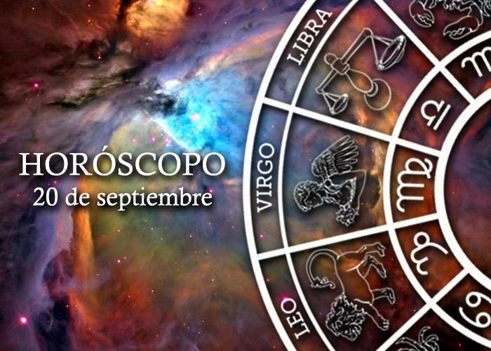 Horóscopo del 20 de septiembre