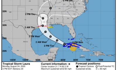 Aviso de tormenta tropical: Laura está en el Golfo de Batabanó