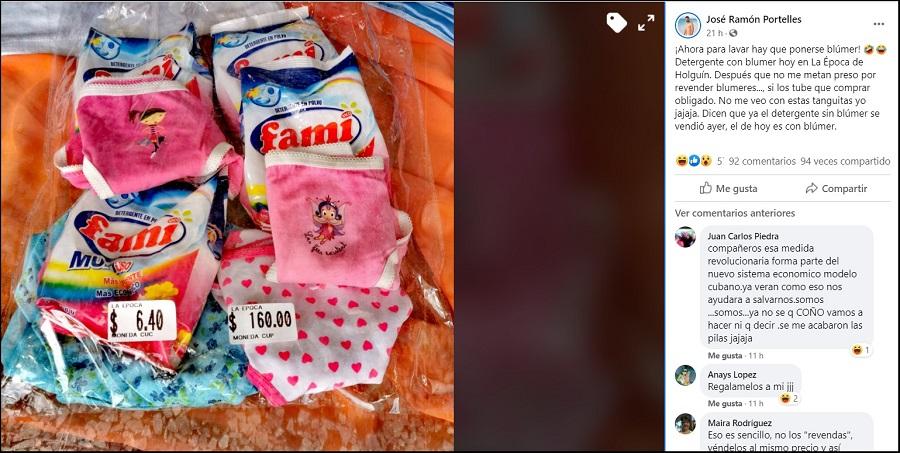 Denuncian la venta forzada de artículos para comprar detergente en Holguín