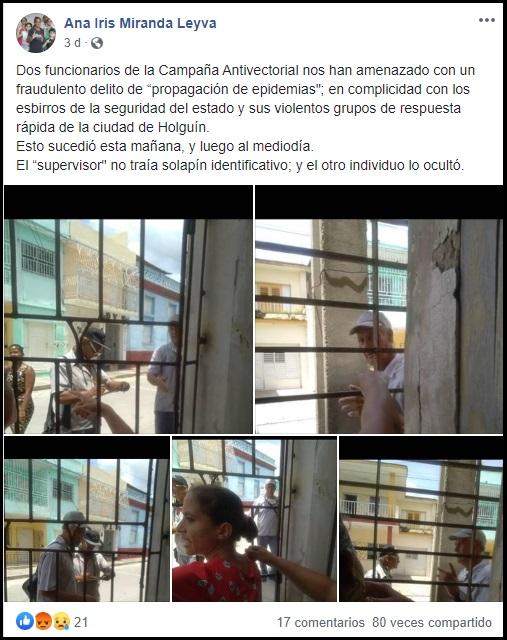 Familia opositora de Holguín acusa a las autoridades de ignorar el acoso que sufren