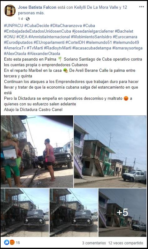Denuncian acoso policial contra cuentapropistas en Santiago de Cuba
